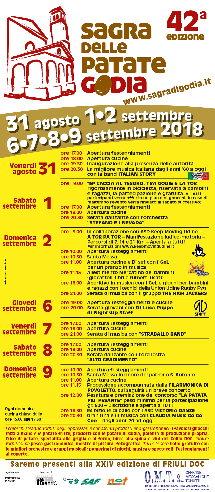 Programma della Sagra di Godia 2018