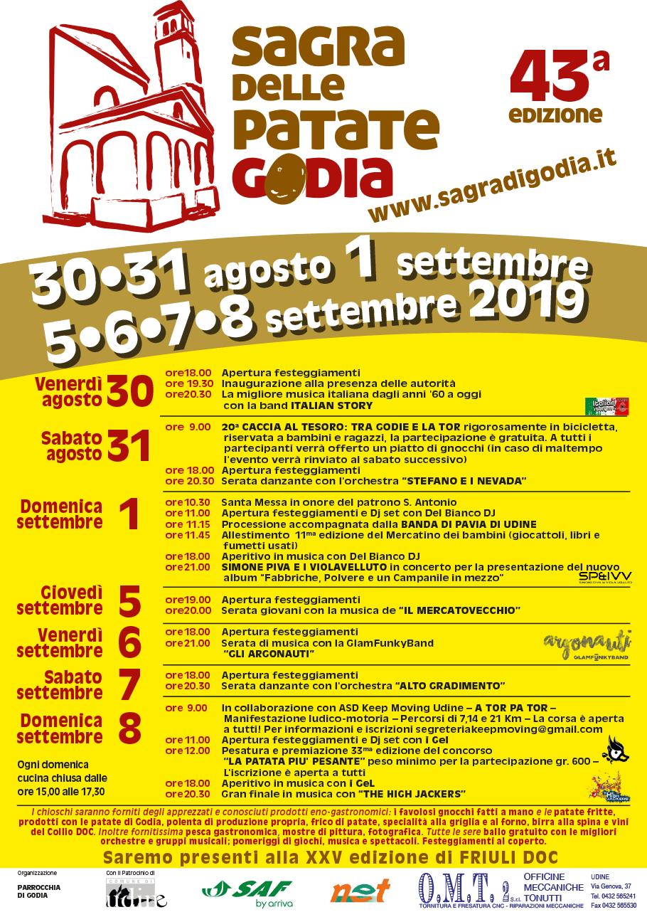 Programma della Sagra di Godia 2019