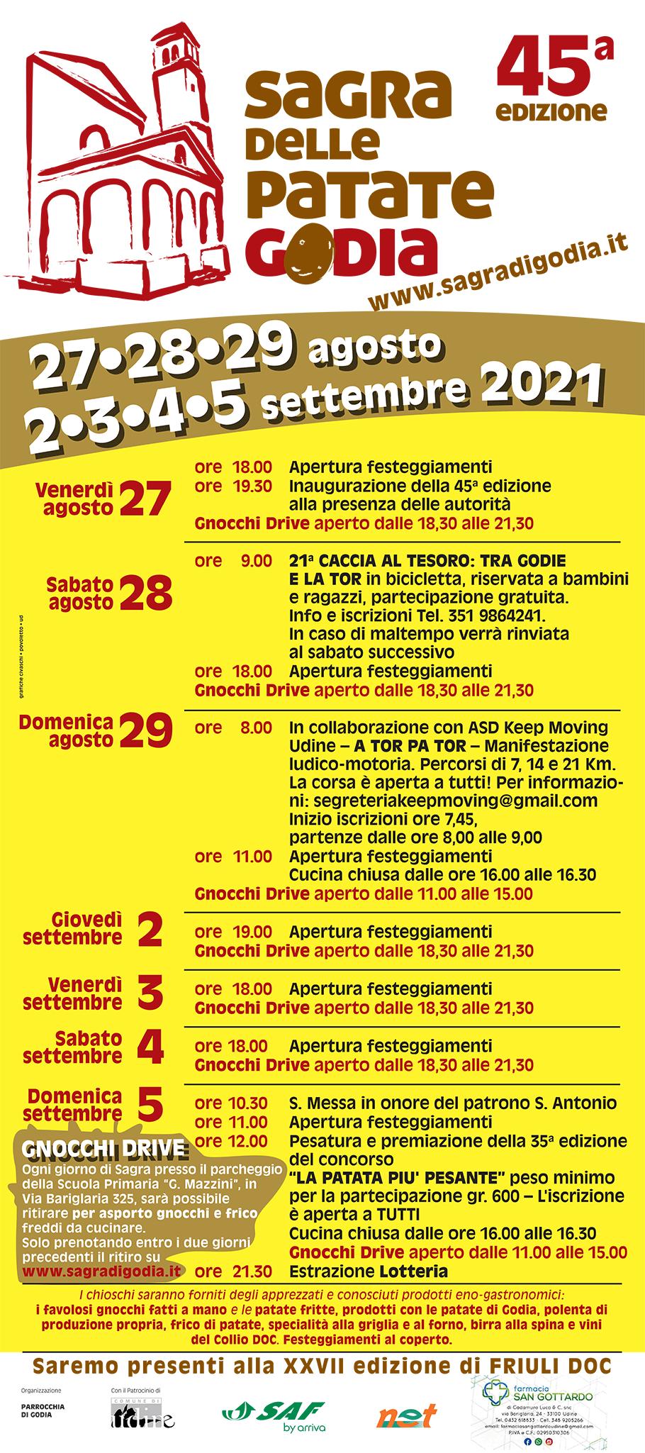 Programma della Sagra di Godia 2021